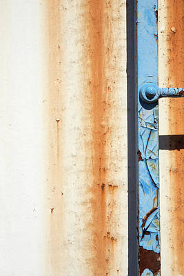 Photograph - Rusty Blue And White by Karol Livote