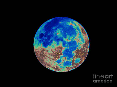 Photograph - Rusty Blue Full Moon by D Hackett