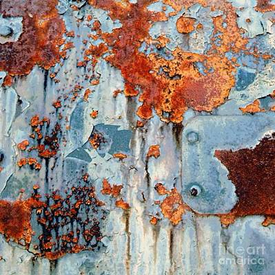 Photograph - Rusty Blues - Rail Rust  by Janine Riley
