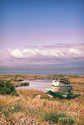 Photograph - Rusty Boat California Coast by Jill Battaglia