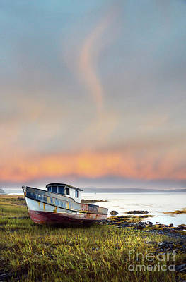 Photograph - Rusty Boat Maine Coast by Jill Battaglia