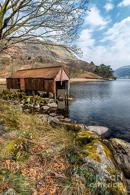 Rusty Boathouse Art Print by Adrian Evans