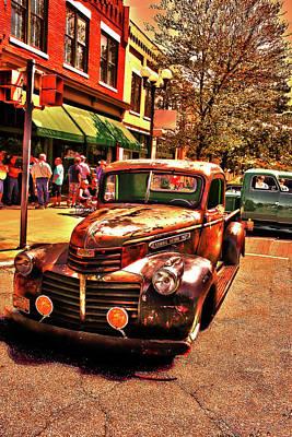 Mixed Media - Rusty Bucket Vintage Gmc Truck Art by Lesa Fine
