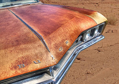 Photograph - Rusty Buick by Gill Billington