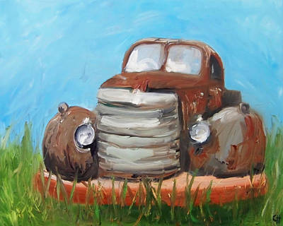 Rust Painting - Rusty by Cari Humphry