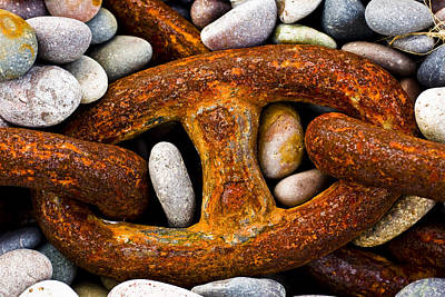 Rusty Chain Photograph by Gabor Pozsgai