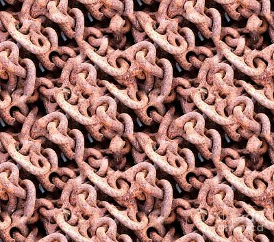 Photograph - Rusty Chains by Yali Shi