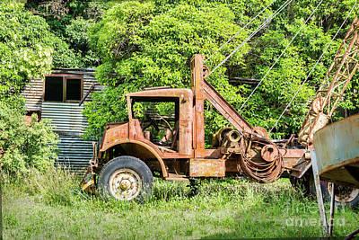 Photograph - Rusty Crane Truck by Stuart Row