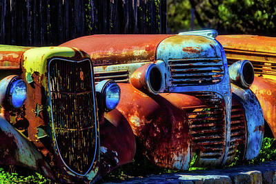 Aging Photograph - Rusty Dodge by Garry Gay