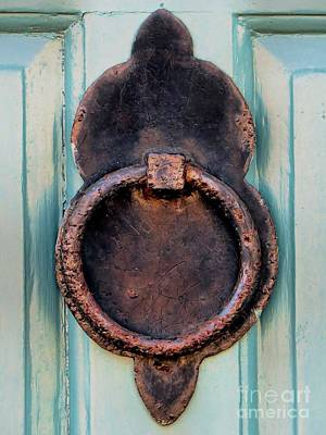 Photograph - Rusty Door Knocker by Janice Drew