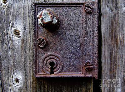 Photograph - Rusty Door Latch And Lock by D Hackett