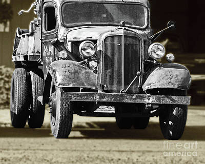 Photograph - Rusty Dump  Truck by Ansel Price