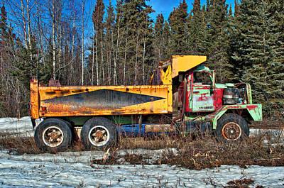 Rusty Dump Truck Art Print