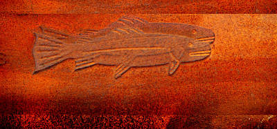 Photograph - Rusty Fish by rd Erickson