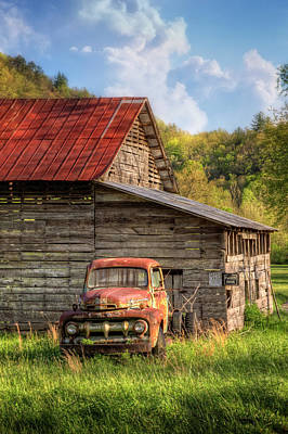 Photograph - Rusty Ford At The Barn by Debra and Dave Vanderlaan