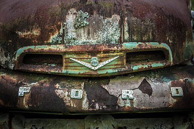 Photograph - Rusty Ford Close Up In The Country  by Debra and Dave Vanderlaan