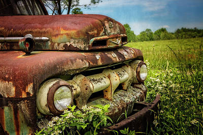 Photograph - Rusty Ford In The Country by Debra and Dave Vanderlaan