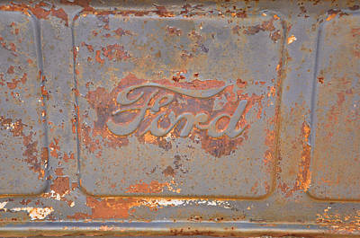 Rusty Ford Art Print by Jan Amiss Photography