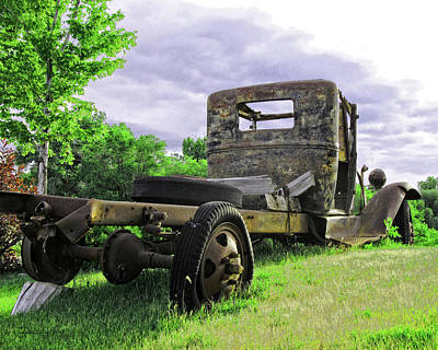 Purple Ford Photograph - Rusty Ford Truck Yard Art by David King
