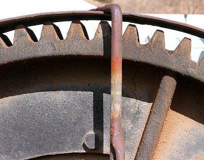 Photograph - Rusty Gear by Joseph R Luciano