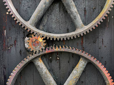 Photograph - Rusty Gears by Leland D Howard