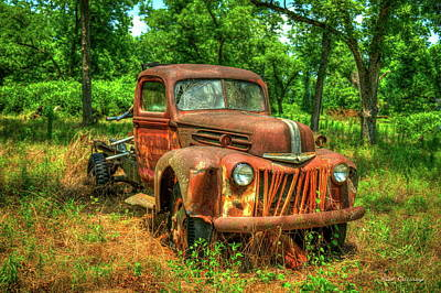 Photograph - Rusty Gold 1947 Ford Stakebed Truck Art by Reid Callaway