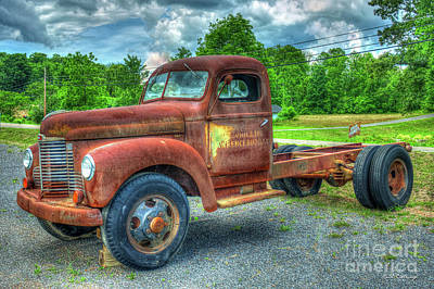 Photograph - Rusty Gold 1947 Ihc Kb 5 International Truck Art by Reid Callaway