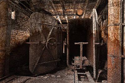 Rusty Grunge Mill Art Print by Nicolas Raymond