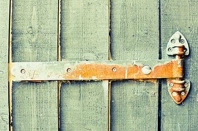 Construction Photograph - Rusty Hinge by Tom Gowanlock