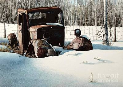 Rusty In Alberta Art Print by Robert Hinves