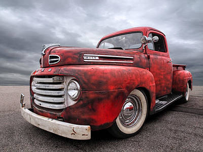 Photograph - Rusty Jewel - 1948 Ford by Gill Billington