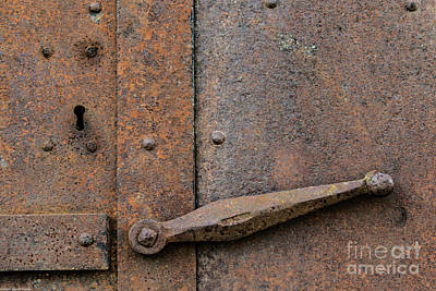 Photograph - Rusty Keyhole by Mitch Shindelbower