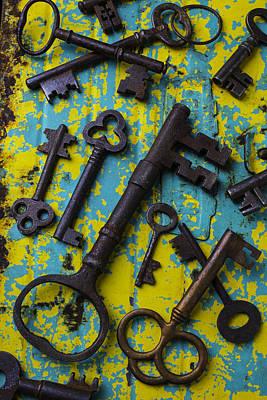 Photograph - Rusty Keys by Garry Gay