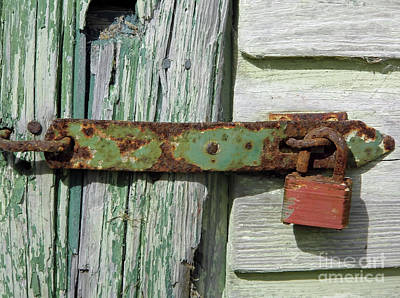 Photograph - Rusty Latch And Lock by D Hackett