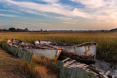 Rusty Lowcountry Boats Art Print by Drew Castelhano