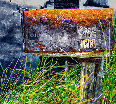 Painting - Rusty Mailbox by Rick Mosher