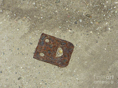 Rusty Metal Hinge Smiley Art Print