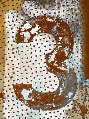 Rust Red Digital Art - Rusty Metal Number Three by Carol Leigh