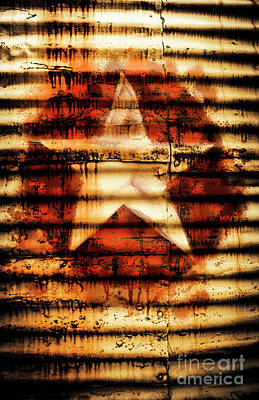 Rusty Military Star. Drums Of War Print by Jorgo Photography - Wall Art Gallery