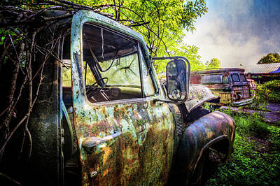 Photograph - Rusty Old Ford Truck by Debra and Dave Vanderlaan