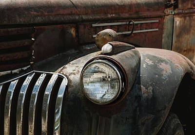 Photograph - Rusty Old Headlight  by Kim Hojnacki