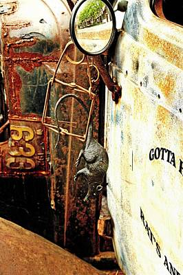 Aretha Franklin - Rusty old panel truck door by Karl Rose