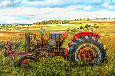 Photograph - Rusty Old Red by Debra and Dave Vanderlaan