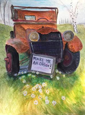 Rusty Old Relic Art Print by Anne Sands