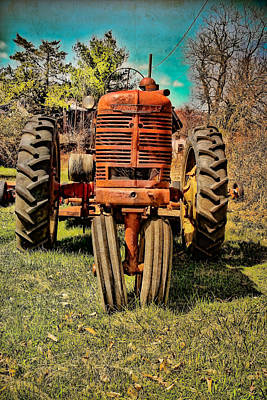 Rusty Old Tractor  Art Print by Colleen Kammerer
