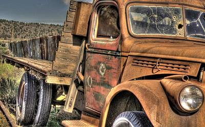 Rusty Old Truck Art Print by Peter Schumacher