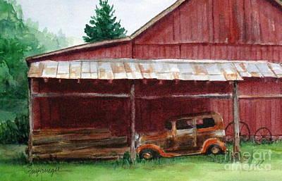 Rusty Ole Car Art Print by Suzanne Krueger