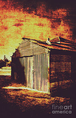 Old Rustic Building Wall Art - Photograph - Rusty Outback Australia Shed by Jorgo Photography - Wall Art Gallery