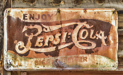 Photograph - Rusty Pepsi Cola by Steven Parker