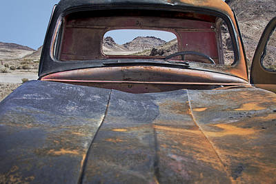 Photograph - Rusty Pickup On Desert Landscape by Phil Cardamone
